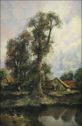 Klein Ludwig  �River Landscape With A House�