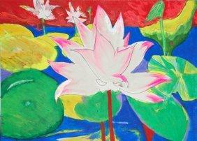 Boyce John (American 20th Century) �Lotus Flower In