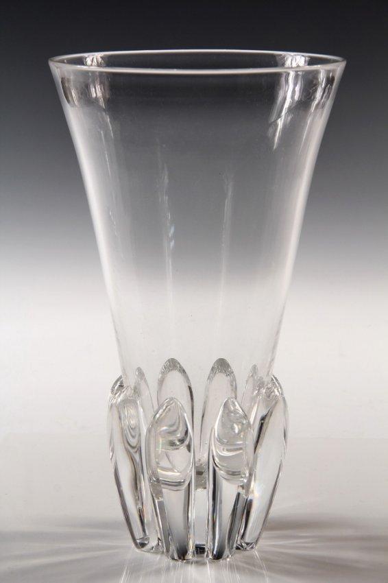Steuben Stem Vase 1950s Modernist Clear Glass Vase Lot 916