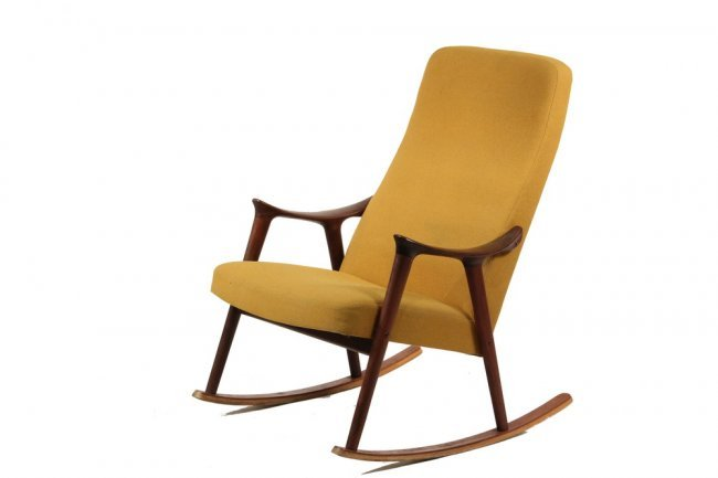 DANISH MODERN ROCKING CHAIR - Ingmar Relling : Lot 895