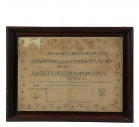 Early Martha's Vineyard Sampler - Alphabet Sampler,