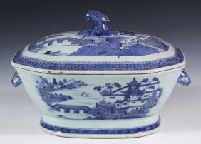 Chinese Porcelain Lidded Tureen- 19th C. Canton Export