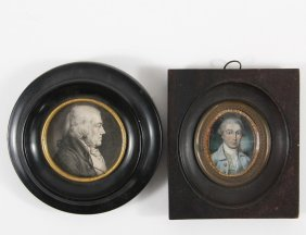 (2) Miniature Portraits - Including: Attributed To