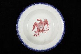 Rare Early Patriotic American Leeds Bowl - English