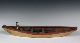 Boat Model - 19th C. Scale Model Of A Grand Banks Dory,