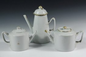 (3 Pcs) Chinese Export Porcelain - All Early 19th C.,