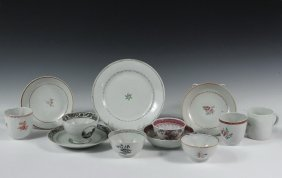 (12 Pcs) Chinese Export Porcelain - All Late 18th C.,