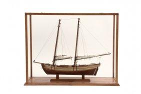 "Cased Ship Model - ""schooner 'paulie', Ca. 1900"", By"