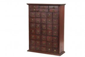 Countertop Apothecary Cabinet - 19th C. Country