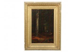 Winckworth Allan Gay (ma, 1821-1910) - Forest Trail,