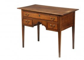 English Dressing Table - Hepplewhite Table In Oak With