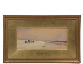 """Thomas Bush Hardy (uk, Italy, 1842-1897) - """"holy Island"""