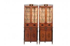 Pair Of Corner Cupboards - Circa 1900 Diminutive