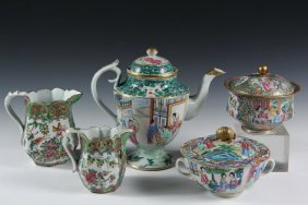 (5) Pieces Chinese Export China - Choice 19th C.