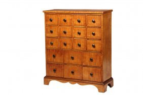 Apothecary Cabinet - American 19th C. Tiger Maple