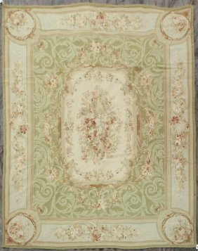 Aubusson Style Needlepoint Carpet - 8' X 10' - France,