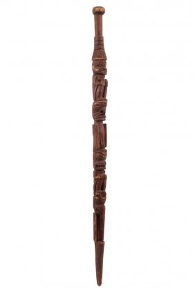 Native American Stick - Talking Stick, Northwest Coast