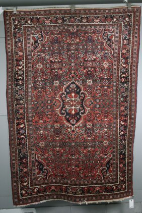 """Carpet - 4'10"""" X 6'10"""" - Hand Woven Persian Carpet With"""