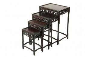 Chinese Nesting Tables - Set Of Four Tables, Late 19th