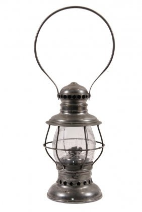 Rare Railroad Presentation Lantern, Boston Hotelier -