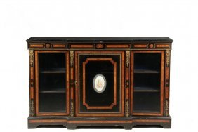 French Credenza - Directoire Style Black Lacquered