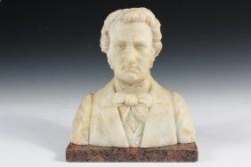 Marble Bust - Alabaster Portrait Of Franz Schubert,