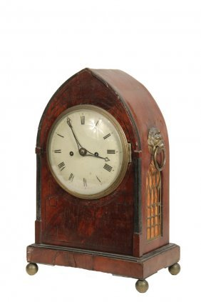 Early English Catherdral Clock - Late 18th C. Mantel