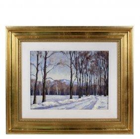 "Stefan Pastuhov (contemporary Maine) - ""winter Road"","