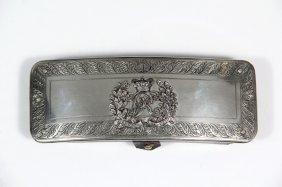 British Army Sterling Silver Cartridge Box - Victorian