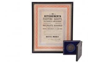 (2 Pcs) British Military Memorabilia - Rare Boer War