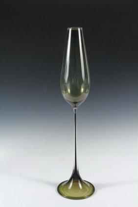Landberg Orrefors Modern Art Glass Vase - 'tulip' Vase