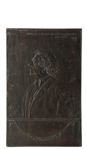 Bronze Plaque - Commemorative Portrait Of William