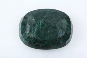 Faceted Emerald Cushion Cut Paperweight - 2,277 Carats