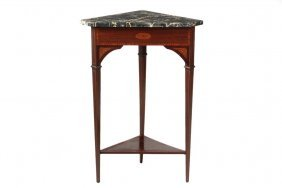 Corner Stand - Edwardian Period Marble Top Stand In