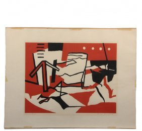 """Ralston Crawford (ny/canada, 1906-1978) - """"red And"""