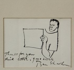 Ben Shahn (ny, 1898-1969) - Self Portrait, An Original
