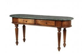 Hall Table - Victorian Long Low Lozenge Shaped Table