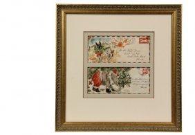 """Waldo Peirce (ny/me/ma, 1884-1970) - """"letters To"""