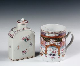 (2 Pcs) Chinese Export Porcelain - All Late 18th C., In