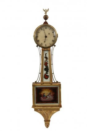 Aaron Willard Banjo Clock - Boston Banjo Clock, Circa