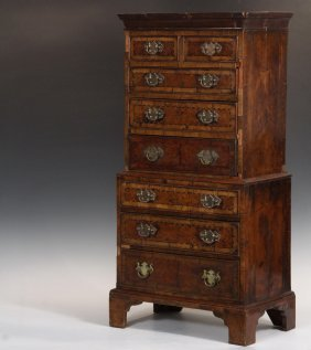 Apprentice Made Tall Chest Model - Late 18th C. English