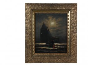 James G. Tyler (ct, 1855-1931) - Nocturnal Boat Scene,
