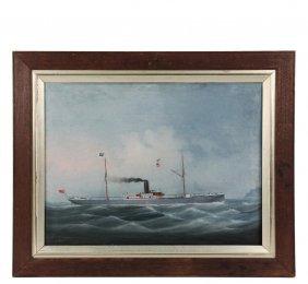 China Trade Ship Portrait - Portrait Of The British