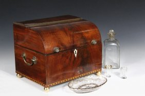 Regency Tantalus - Domed Front Mahogany Case With