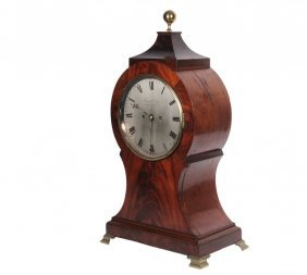 Rare English Bracket Clock - George Iii Period, By
