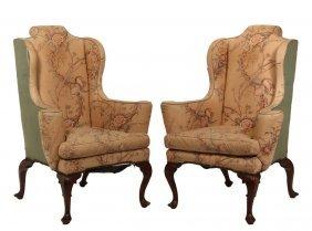 Pair Of English Wing Chairs - Circa 1800 Georgian
