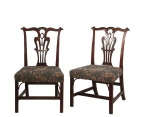 Fine Pair Of Chippendale Sidechairs - Possibly Irish,