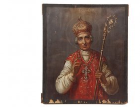 "Religious Icon - Russian Orthodox Icon, 19th C., ""st."