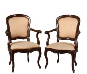 Pair Of Continental Fauteuils - Fine Pair Of French