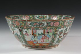 Chinese Export Punch Bowl - Large Deep Footed Bowl, Mid